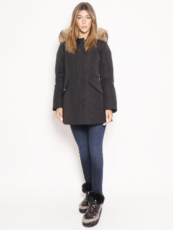 WOOLRICH-Arctic Parka in Shape Memory Nero-TRYME Shop