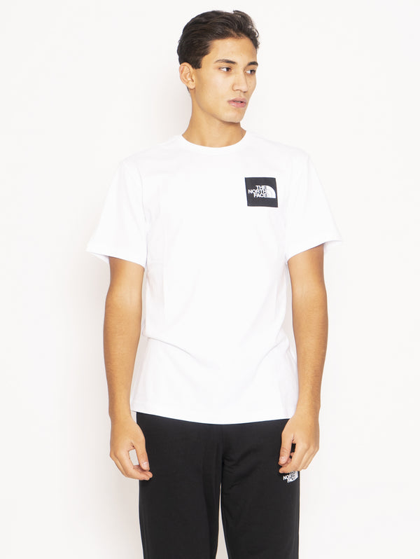 THE NORTH FACE-T-shirt con Logo e Stampa - Bianco-TRYME Shop