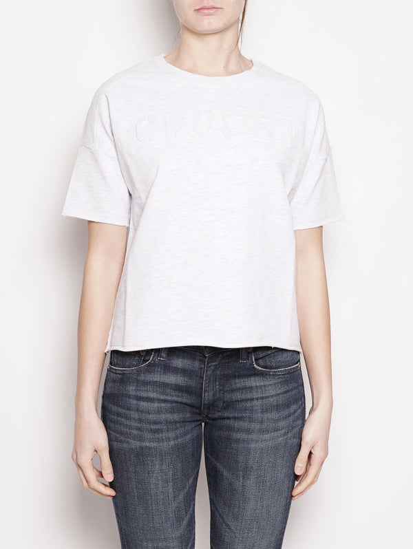 T-shirt con scritta in rilievo Grigio-Top-CLOSED-TRYME Shop