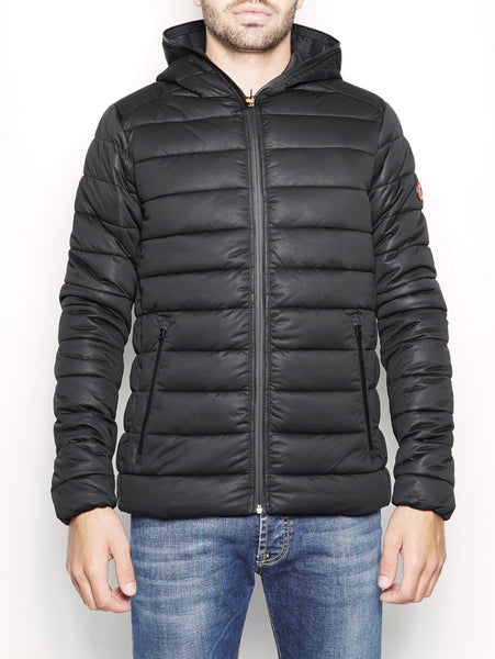 SAVE THE DUCK D3625M SOLD - Giaccone trapuntato stretch  Nero Trymeshop.it