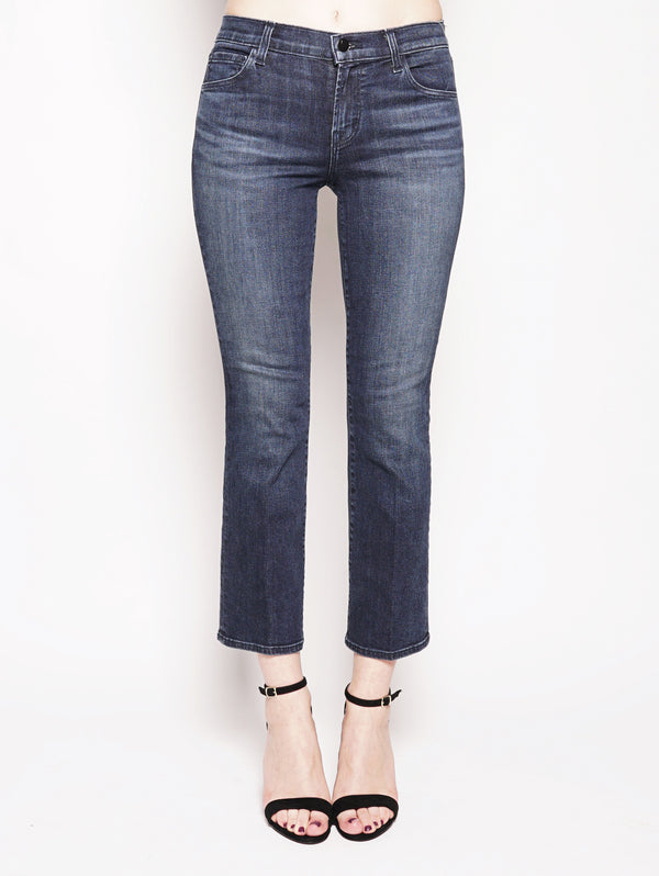 J BRAND-SELENA MID-RISE CROP BOOT Denim-TRYME Shop