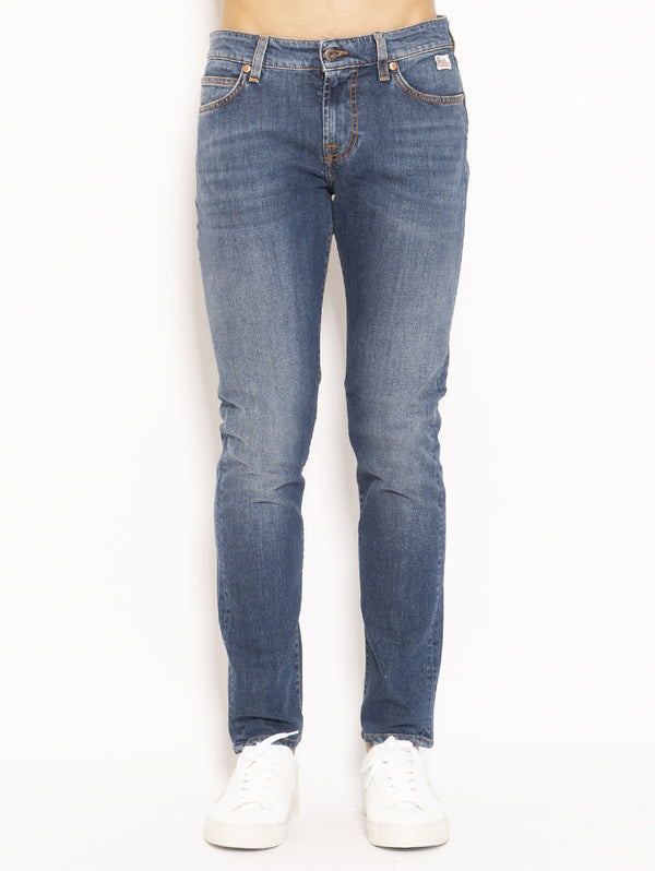 ROY ROGERS-Jeans 517 Man Denim Stretch Weared 10 Blu-TRYME Shop
