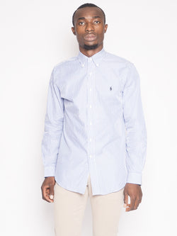 RALPH LAUREN-Camicia a Righe Blu-TRYME Shop