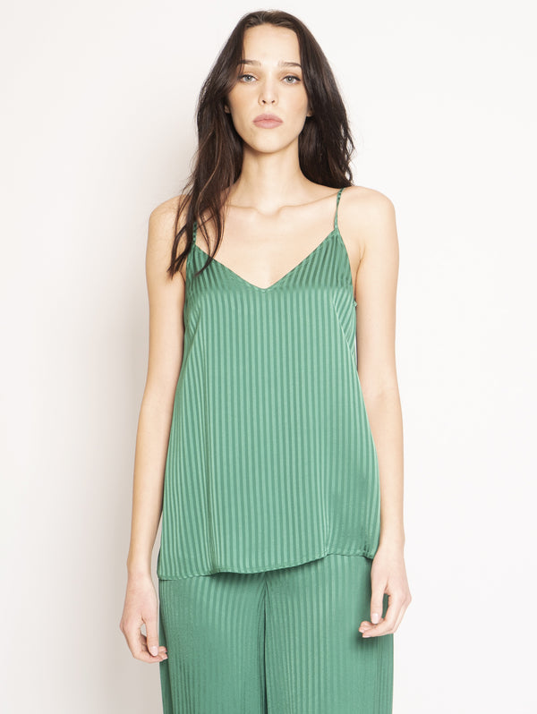 FEDERICA TOSI-Top a Righe Verde-TRYME Shop
