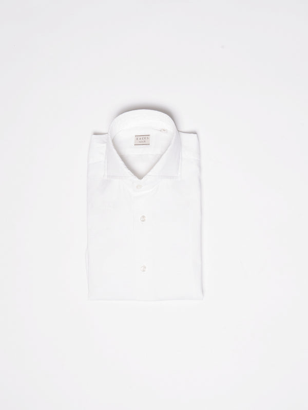 XACUS-Camicia in Popeline Bianco-TRYME Shop