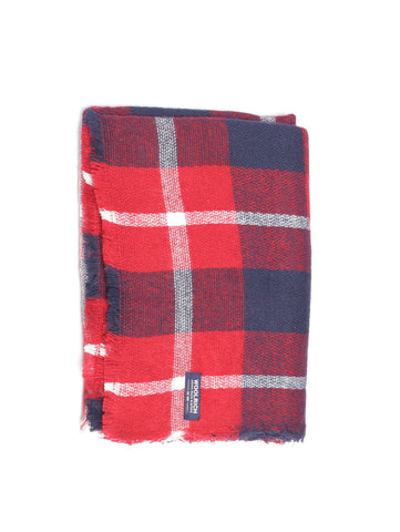 Woolrich W'S CHECK WOOL SCARF WWACC1294AC07 Rosso Trymeshop.it