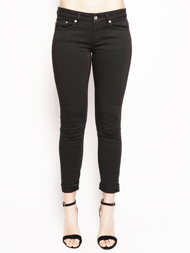 dondup-Jeans skinny in bull di cotone superstretch Nero-TRYME Shop