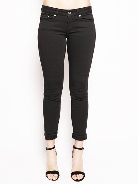 Jeans skinny in bull di cotone superstretch Nero