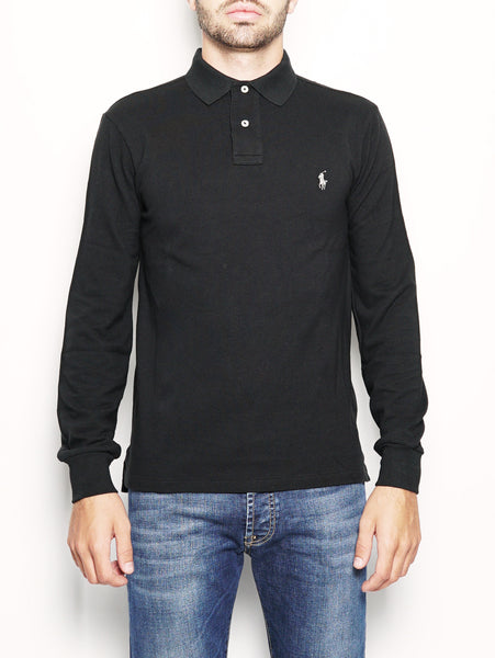 Polo Slim-Fit a maniche lunghe Nero RALPH LAUREN TRYMEShop