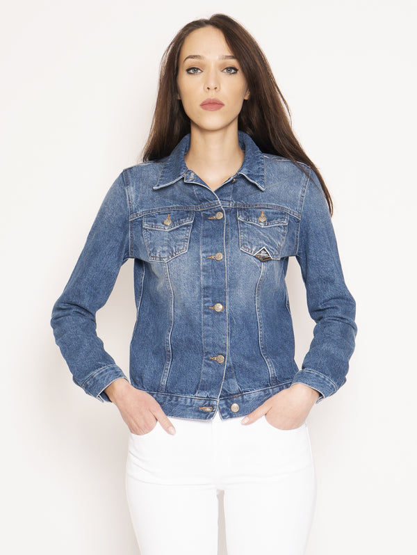 ROY ROGERS-Giacca in Denim Jacket Ross Denim Hope Blu-TRYME Shop