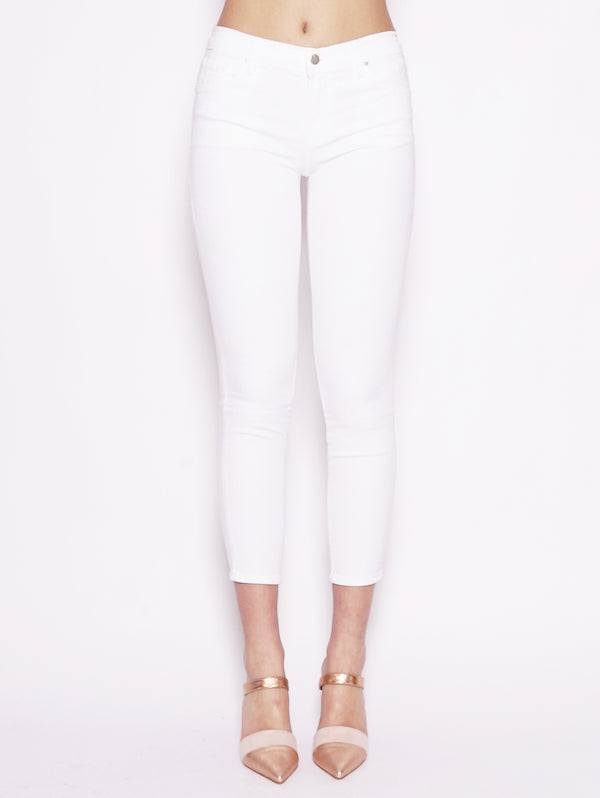 J BRAND-Jeans Mid Rise Crop Skinny Bianco-TRYME Shop