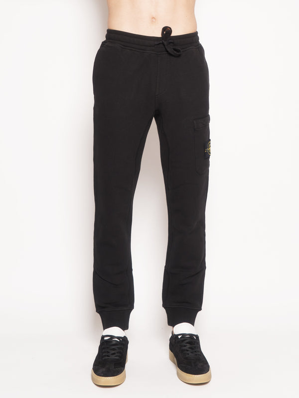 60320 - Pantalone jogging in felpa Nero