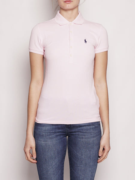Polo Stretch Slim-Fit Rosa