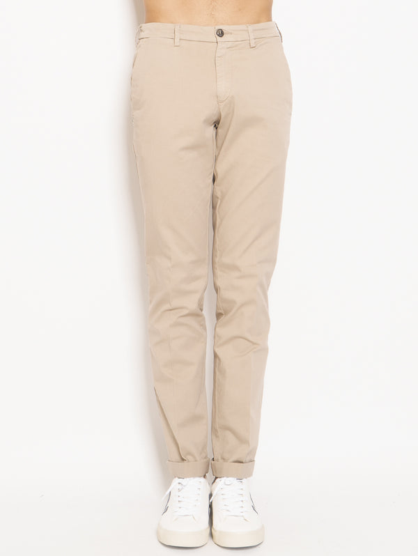 40 WEFT-Chino in Cotone Lenny Beige-TRYME Shop