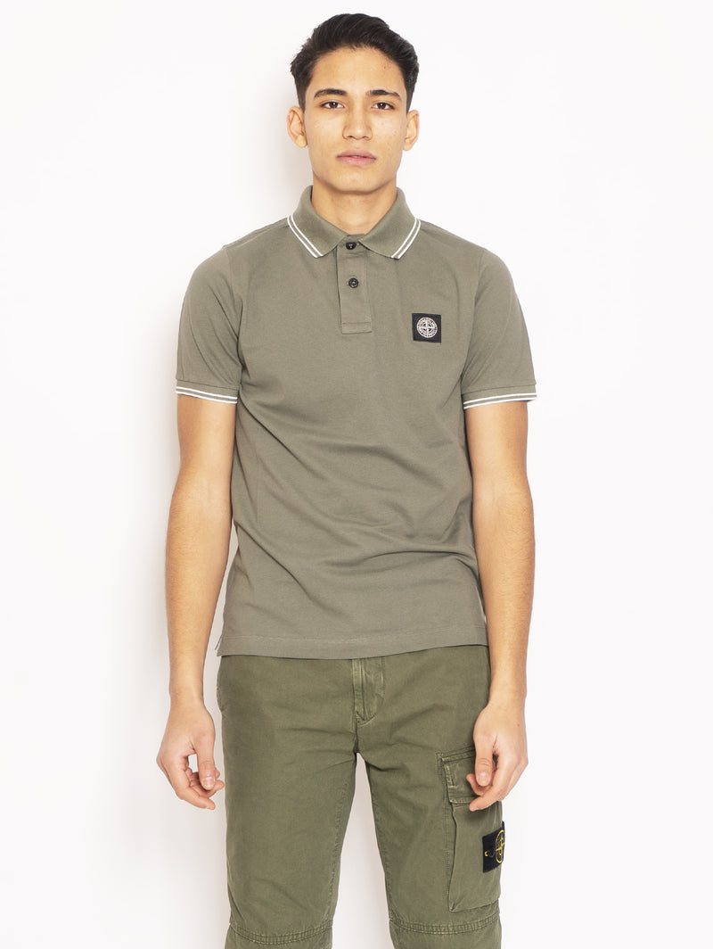 STONE ISLAND-Polo Slim Fit Verde-TRYME Shop