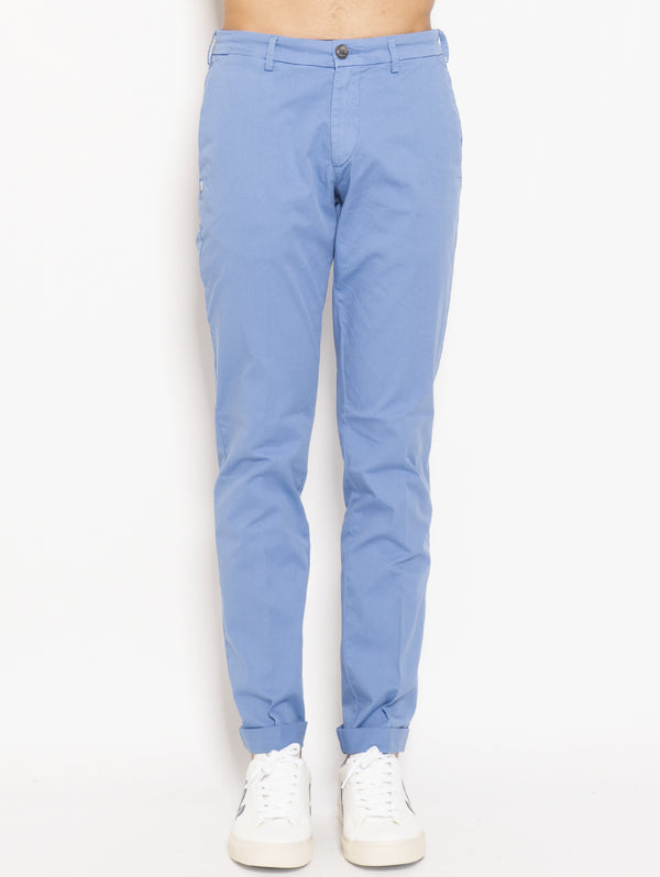 40WEFT-Chino in Cotone Lenny Blu-TRYME Shop