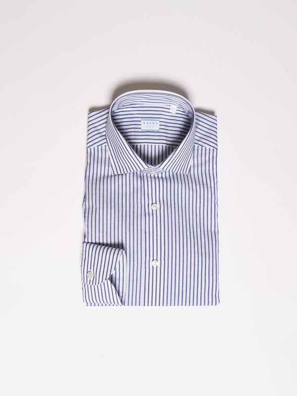 XACUS-Camicia Wrinkle Free a Righe - Blu-TRYME Shop