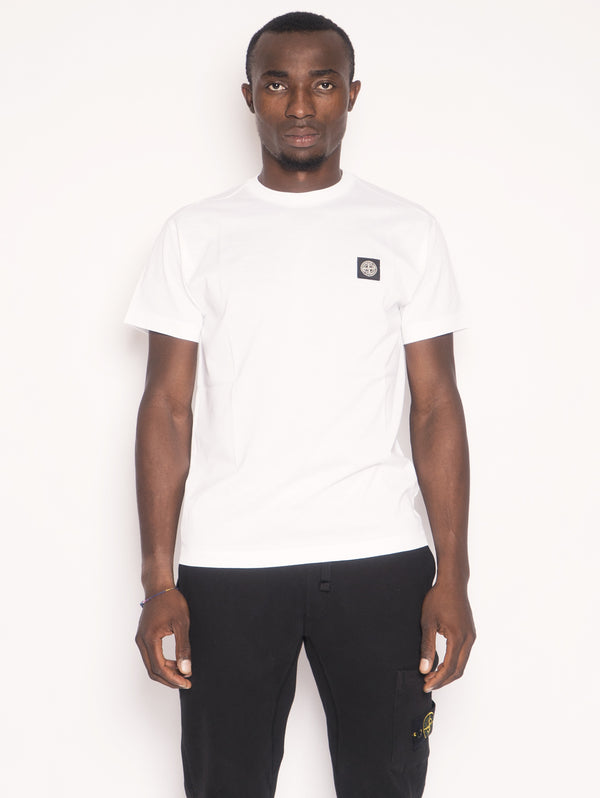 STONE ISLAND-T-shirt in Jersey di Cotone 24113 Bianco-TRYME Shop