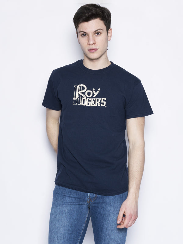 ROY ROGERS-Maglia con Stampa Blu-TRYME Shop