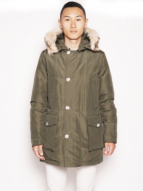 WOOLRICH-Parka Arctic in Ramar DF Verde-TRYME Shop