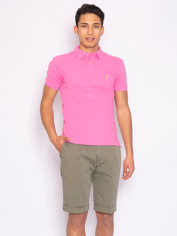 RALPH LAUREN-Polo in Piquè Rosa-TRYME Shop