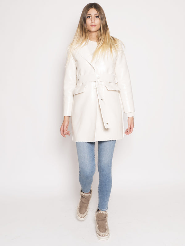 OOF-Cappotto Reversibile Impermeabile Bianco-TRYME Shop
