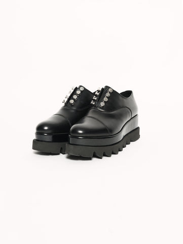 ALICE LOW 1614 BRUSHED LEATHER BLACK Nero CULT TRYMEShop
