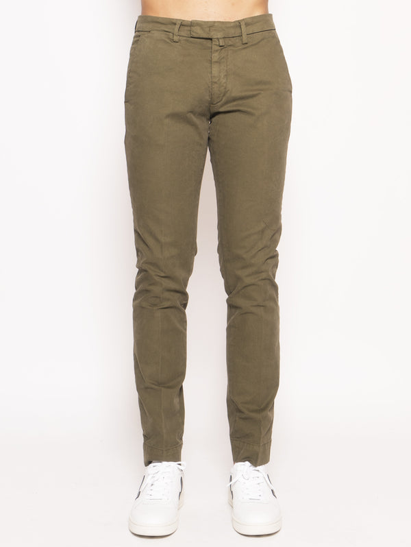 40WEFT-Chino slim Verde-TRYME Shop