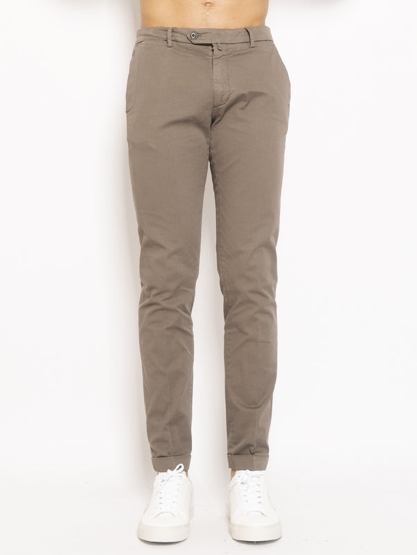 40WEFT-Chino in Cotone Marrone-TRYME Shop