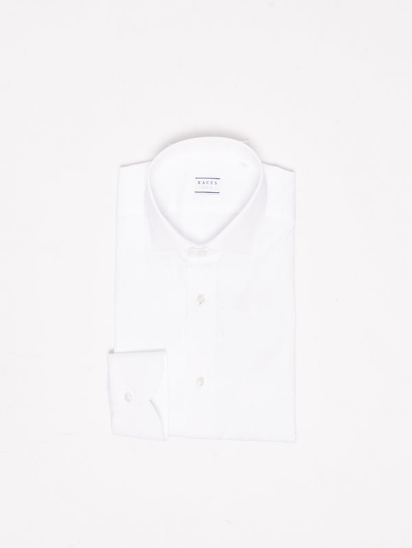 XACUS-Camicia in Stretch Fabric Bianco-TRYME Shop