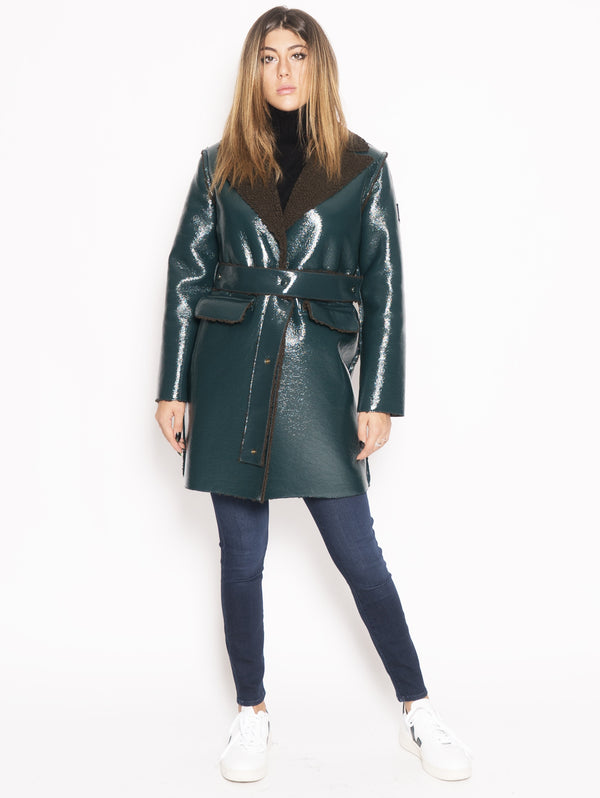 OOF-Cappotto Reversibile Impermeabile Verde-TRYME Shop