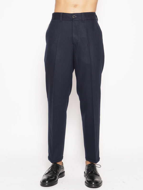 PT 01 FORWARD PANTALONI IN MISTO LANA BI-STRETCH Blu
