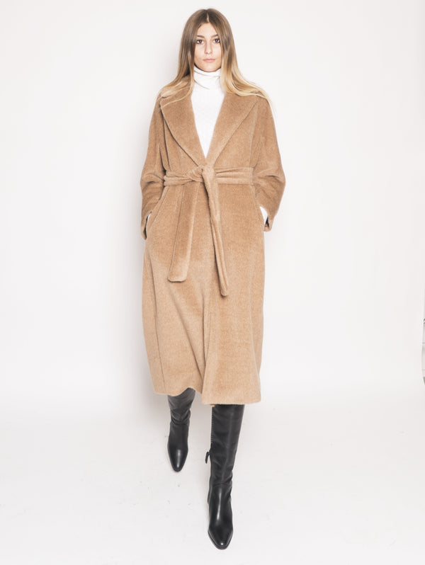Max Mara-Cappotto in lana e alpaca - Elvy Marrone-TRYME Shop