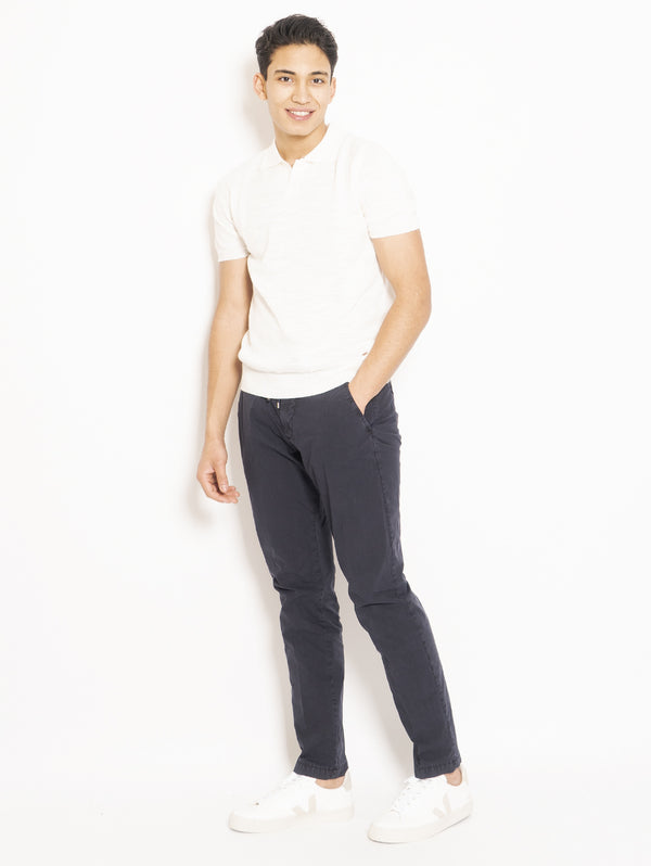 Pantalone Con Coulisse Blu