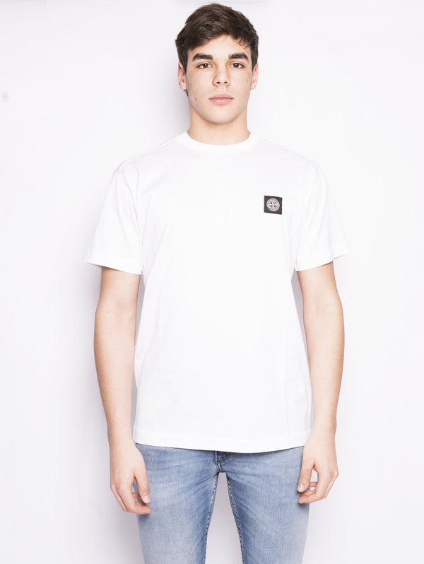 24141 - T-shirt in cotone Bianco-T-shirt-STONE ISLAND-TRYME Shop