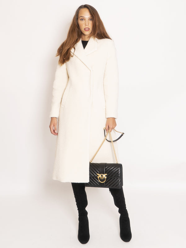 PINKO-Cappotto Lungo in Faux Fur - Bianco-TRYME Shop