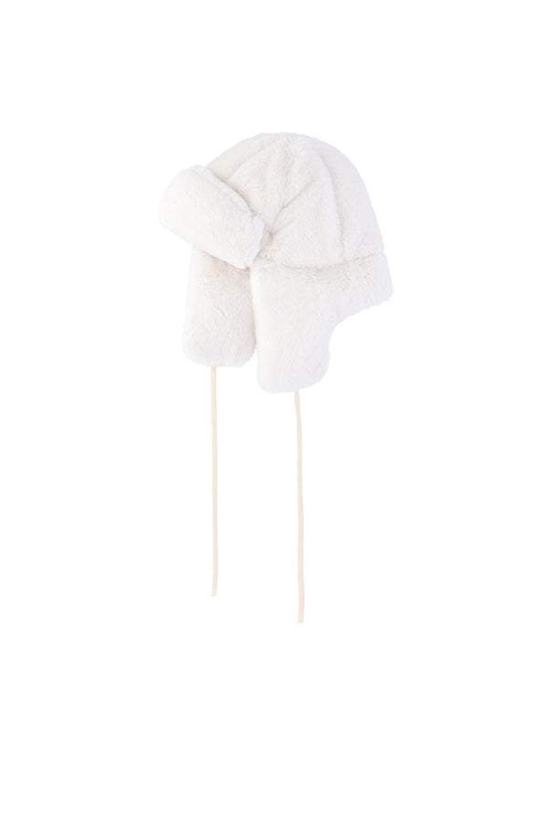OOF-Cappello in eco fur - Bianco-TRYME Shop