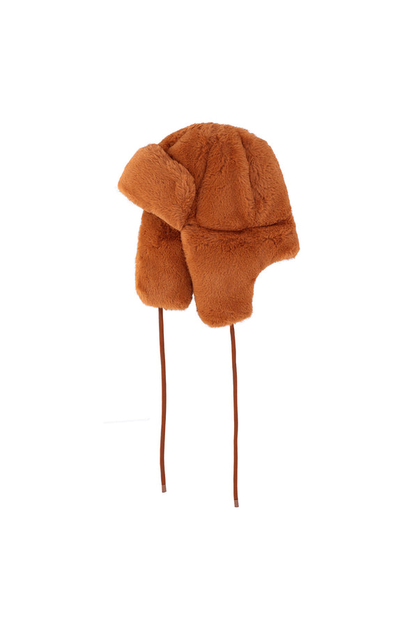 OOF-Cappello in eco fur - Marrone-TRYME Shop