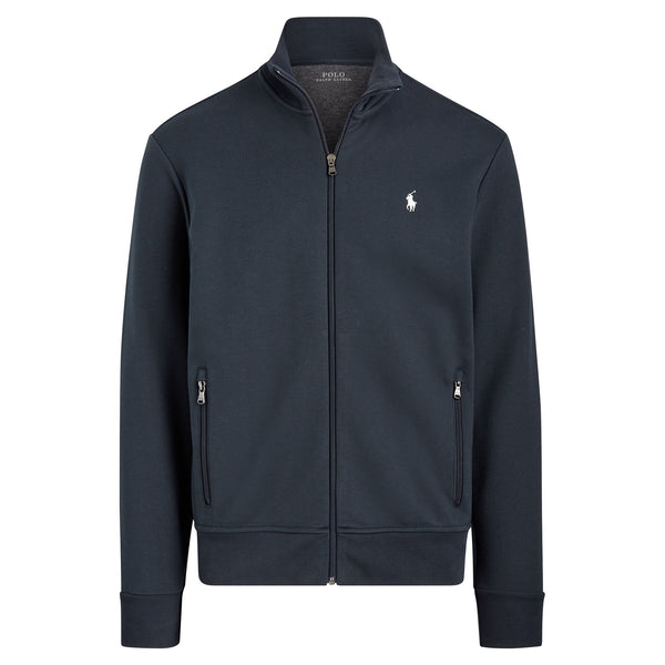 Felpa full zip con Collo Dritto - Navy