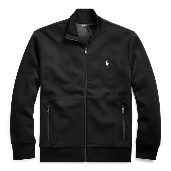 Felpa full zip con Collo Dritto - Black