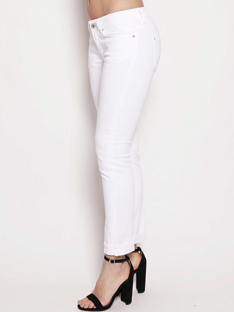 Jeans skinny in bull di cotone superstretch Bianco-Jeans-dondup-TRYME Shop
