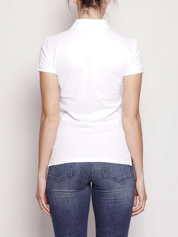 Polo stretch Slim-Fit Bianco-Polo-RALPH LAUREN-TRYME Shop