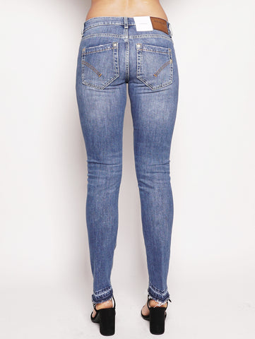 dondup Jeans vita bassa con orlo scucito Denim Trymeshop.it