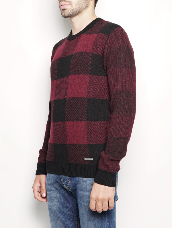 BUFFALO CREW NECK Rosso-Maglieria-WOOLRICH-TRYME Shop