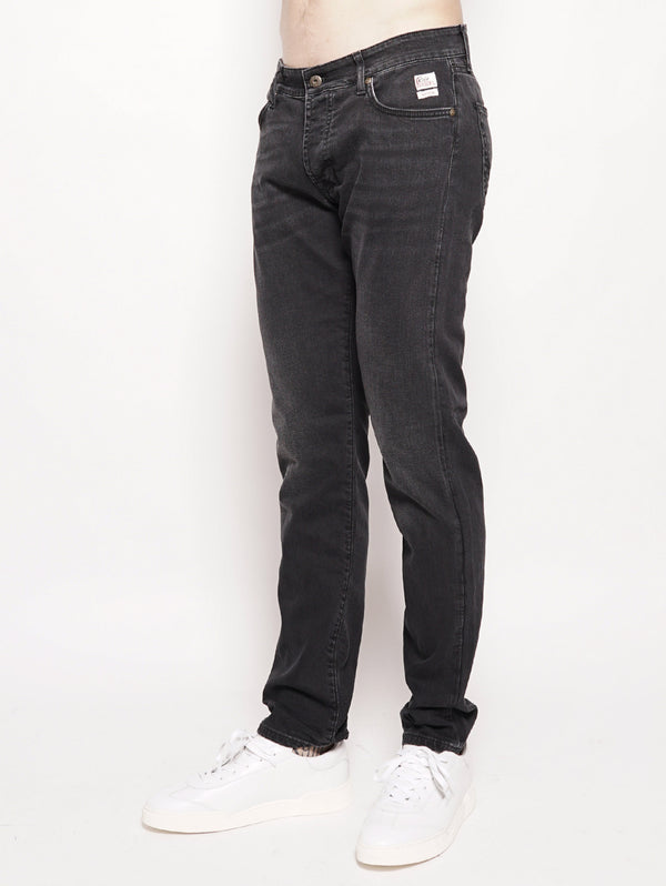 529 Superior Denim Maine Nero-Jeans-ROY ROGERS-TRYME Shop