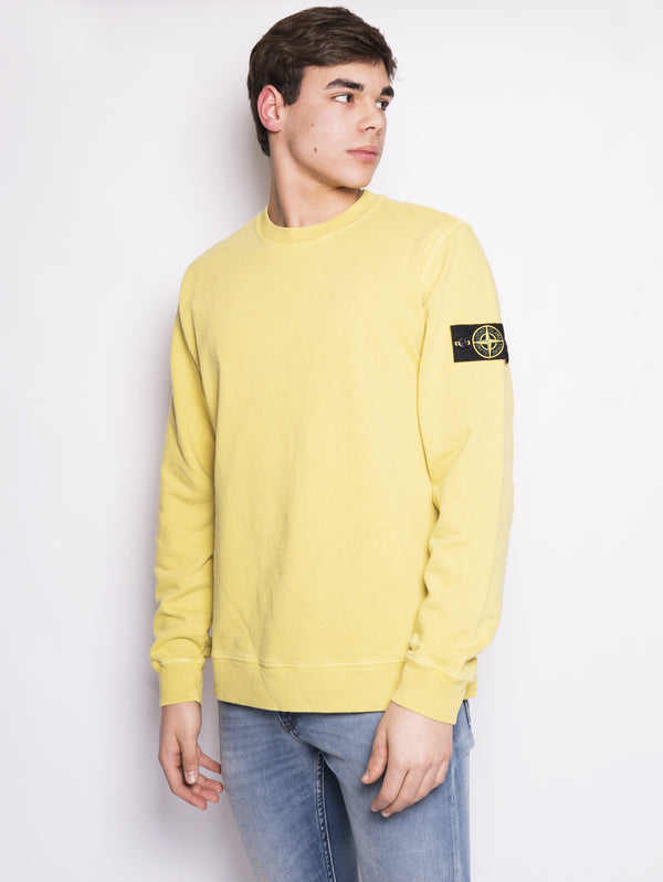 65560 - FELPA 'FISSATO' DYE TREATMENT Giallo-Felpa-STONE ISLAND-TRYME Shop