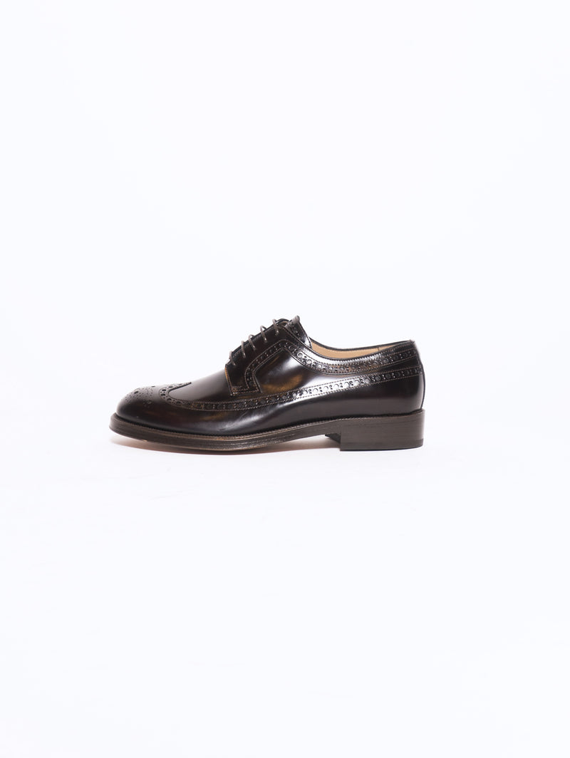 SEBOY'S-Stringata con Lavorazione Brogue Longwing Marrone-TRYME Shop