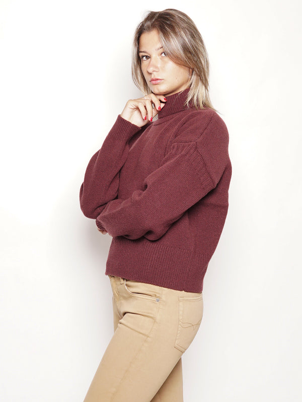 Women's Knit - Maglia collo alto Bordeaux-Maglieria-CLOSED-TRYME Shop