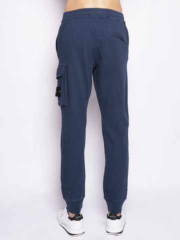 STONE ISLAND 65760 TINTO 'OLD' - Pantalone cargo in felpa Blu Trymeshop.it