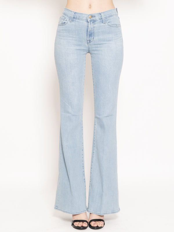 J BRAND-Jeans Valentina High Rise Flare Blu-TRYME Shop